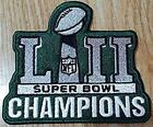 PHILADELPHIA EAGLES 2018 CHAMPIONSHIP PATCH SB 52 CHAMPIONS FULL EMBROIDERY
