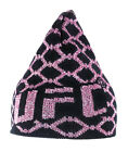 Women's UFC Beanie Hat Black and Pink Bling Tinsel Glamor