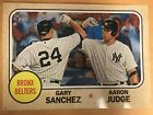 "Yankees Topps Wall Art Poster Judge Sanchez Gold. Hand # 1 1. 10""X 14""."