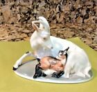 ROSENTHAL Early Art Deco Nouveau Porcelain Mountain Goat with Baby Goat Figurine