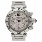 Cartier Pasha 42mm 2995 stainless steel Silver dial 42mm auto watch