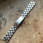 Vintage Zenith solid stainless steel oyster watch bracelet - 16mm ends
