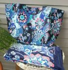 VERA BRADLEY Large Family Tote  Beach Towel set LOTUS FLOWER SWIRL