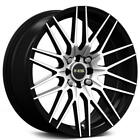 4pcs 15 NS Wheels Tunner NS1509 Black Machined Rims
