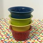 Fiestaware Bouillon Bowls Fiesta Multi Color Brights Small Prep Cups Lot of 4