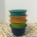 Fiestaware Bouillon Bowls Fiesta Multi Color Small Prep Cups Lot of 4