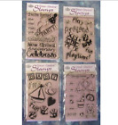 Clear Choice Acrylic Stamps Birthday Wedding Graduation Party Baby Lot of 14