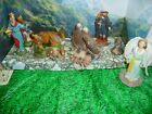 Vintage NATIVITY Figures OLD COMPOSITIONRESIN LOT