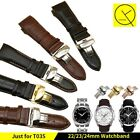 22 23 24mm Leather Watchband Strap For Tissot T-Classic T035 / T035627 T035407
