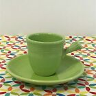 Fiestaware Chartreuse Stick Handle Demi Cup and Saucer Fiesta Demitasse NWT