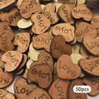 Love Hollow Rustic Decorations Wedding Table Confetti Small Wooden Hearts LK3