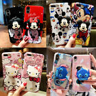 Cute Disney Hello Kitty Airbag Stand Holder Case Cover for iPhone Xs Max Xr 7 8+