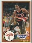 1990 Clyde Drexler Portland Trailblazers White Card Starting Lineup SLU NBA