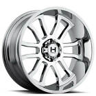 4New 20x9 Hostile Wheels Gauntlet Chrome Off Road CA