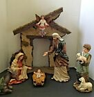 NEW Large Christmas Nativity Scene Mannger Creche Resin Complete Set NIB NICE
