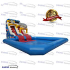 26x13x21ft Inflatable Shark Slide With Pool Water Park Aqua With Air Blower