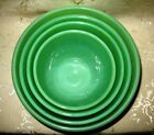 Jadeite Set of 4 Nested Swirl Bowls ranging from the 6