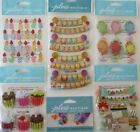 Scrapbooking Stickers Jolees Boutique Lot BIRTHDAY Party Cupcakes Candles