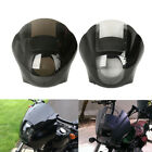 Smoke Clear Quarter Fairing Windshield For Harley Sportster XL 883 1200 88 Up