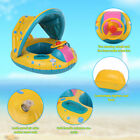 Baby Pool Float Inflatable Swimming Ring with Sun Shade Canopy Safety Seat I2L7
