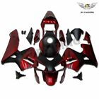 TX STOCK Black Red Injection Fairing Kit Fit for HONDA 2003 2004 CBR600RR a083