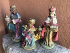Vintage Made In Italy Nativity Figurines 3 Kings Wise Men BIG 12 Tall