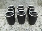 Lot Of 6 Vintage Nile Cryst-O-Therm Black Drinking Glasses From Proven Prods.