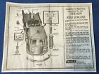 Buddy L Texaco Fire Chief Pumper Fire Truck Toy INSTRUCTIONS-Photo Copy