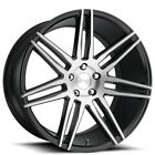 QTY4 20 Staggered Niche Wheels M178 Trento Brushed Gloss Black Rims CA