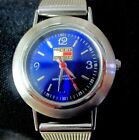 Women Tommy Hilfiger USA Dress Watch 1238 Stainless Steel Mesh Strap Blue Face