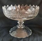 An Edwardian Irish design Cut Glass fruit bowl Castle topped RimKnopped Stem