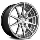 4New 20 Verde Wheels V20 Insignia Silver Machined Rims
