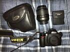 Nikon D60 Camera With Lens  2xBatteries And Leather Case