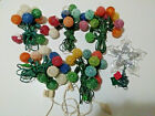 Vintage Sugared Christmas Lights 5 Strings and Vintage Tree Topper