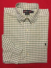 RALPH LAUREN BIG SHIRT GREEN WHITE GINGHAM CHECK 100 COTTON EXTRA LARGE