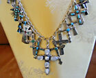 Native American sterling silver crosses charm necklace