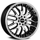 4 set 17 NS Wheels Tunner NS9002 Black Machined Face and Lip Rims