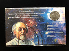 RUSSIAN SOVIET SPACE RELATED SINGLE COIN IN A INFORMATIVE CARD DISPLAY  C