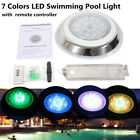 HOT 54W RGB LED Swimming Pool Lights Underwater Waterproof Lamp + Controller USA