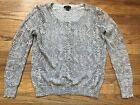 Ann Taylor Beige Cotton Snake Animal Print Pullover Shirt Blouse Top Size SP