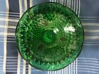 Green Glass Hobnail Candy Bowl/Dish Mint Condition