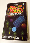 Dr Doctor Who Quiz Book 1982 SIGNED Peter Davison Target PB Nigel Robinson RARE