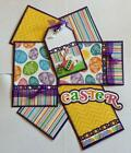 EASTER Premade Scrapbook Page Mat Set sewn SALE