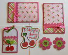 I LIKE YOU CHERRY MUCH Premade Scrapbook Page Mat Set SEWN