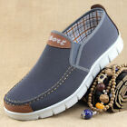 Mens Slip On Loafers Canvas Shoes Breathable Flats Boat Shoes Casual Sneakers