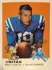 Johnny Unitas Certified Issue Autograph Reprint R13 Of 18 TOPPS Company