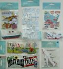 Jolees Boutique Scrapbooking Stickers Lot TRAVEL Vacation Road Trip Airplane