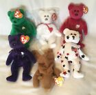 Lot of 6 TY Beanie Baby Bears - With Tags - Beanie Babies - #Bears2