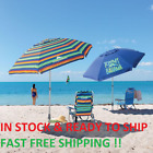 TOMMY Bahama 7 Beach Umbrella w Tilt MULTI COLOR OR BLUE FAST FREE SHIPPING