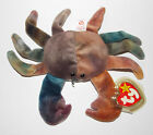Ty Beanie Baby Claude Plush Crab 8in Stuffed Animal Retired with Tag 1996